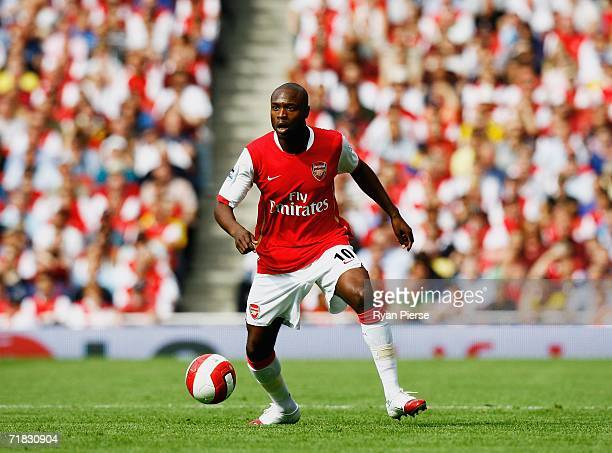 William Gallas of Arsenal in action on his debut for his new team during the Barclays Premiership match between Arsenal and Middlesbrough at The...