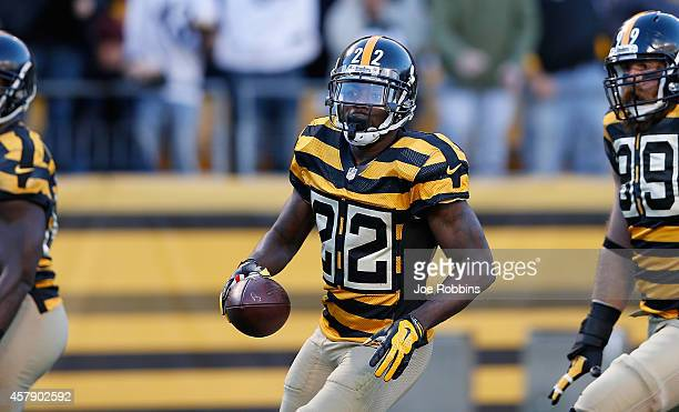 William Gay of the Pittsburgh Steelers celebrates his interception return for a touchdown during the second quarter against the Indianapolis Colts at...