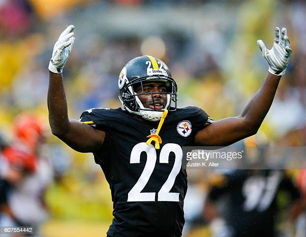 William Gay of the Pittsburgh Steelers reacts after a defensive stop in the second half during the game against the Cincinnati Bengals at Heinz Field...
