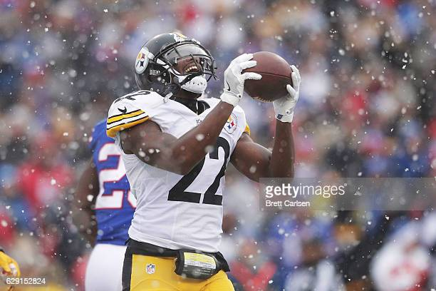 William Gay of the Pittsburgh Steelers reacts after having his touchdown called back by a penalty during the first half against the Buffalo Bills at...