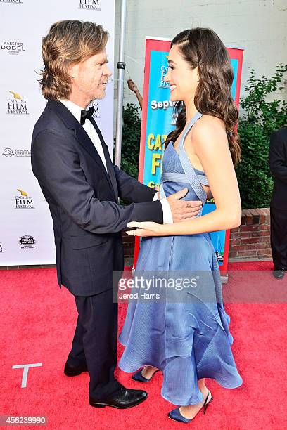 William H Macy and Emmy Rossum arrive at the 2014 Catalina Film Festival Premiere of 'Rudderless' on September 27 2014 in Catalina Island California