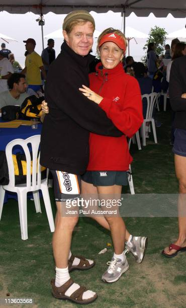 William H Macy and Felicity Huffman during 17th Annual Nautica Triathlon Benefitting The Elizabeth Glaser Pediatric Aids Foundation at Zuma Beach in...