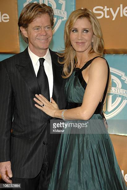 William H Macy and Felicity Huffman during In Style and Warner Bros 2007 Golden Globe After Party Red Carpet at Beverly Hilton Hotel in Beverly Hills...