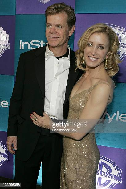William H Macy and Felicity Huffman during Instyle/Warner Bros Golden Globe Awards Post Party Arrivals at Beverly Hills Hilton in Beverly Hills...