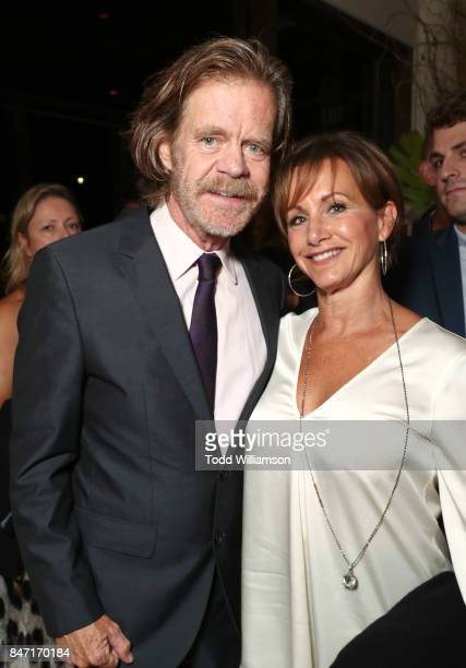 William H Macy and Gabrielle Carteris attend The Hollywood Reporter and SAGAFTRA Inaugural Emmy Nominees Night presented by American Airlines Breguet...
