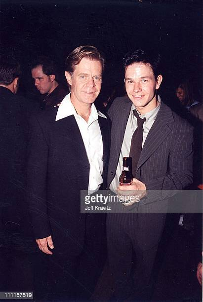 William H Macy and Mark Wahlberg during 'Boogie Nights' Premiere in Los Angeles California United States