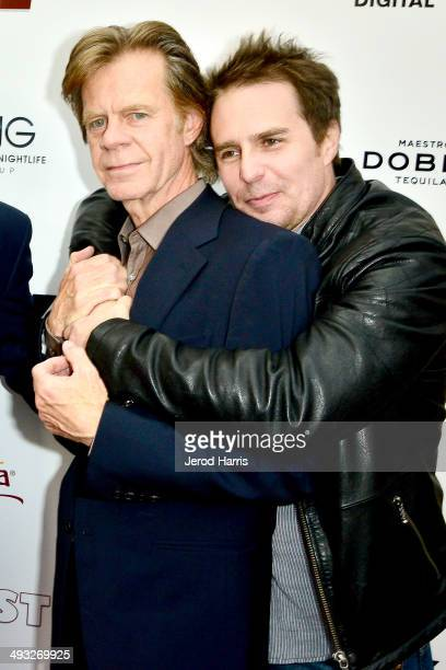William H Macy and Sam Rockwell arrive at the Los Angeles Premiere of 'Trust Me' at the Egyptian Theatre on May 22 2014 in Hollywood California