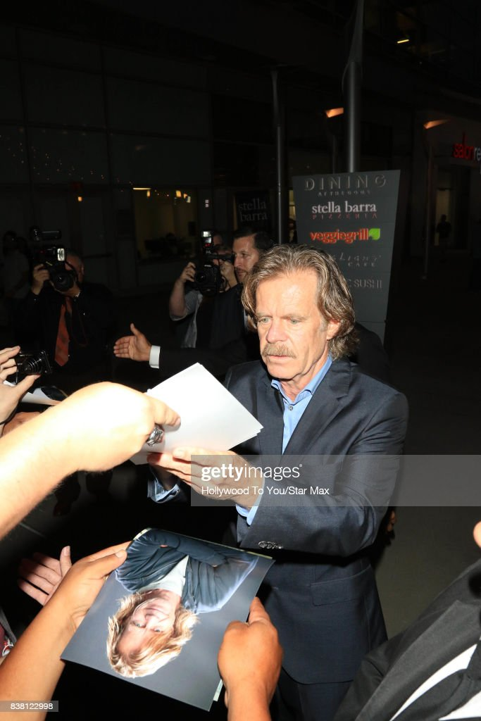 William H. Macy is seen on August 23, 2017 in Los Angeles, CA.
