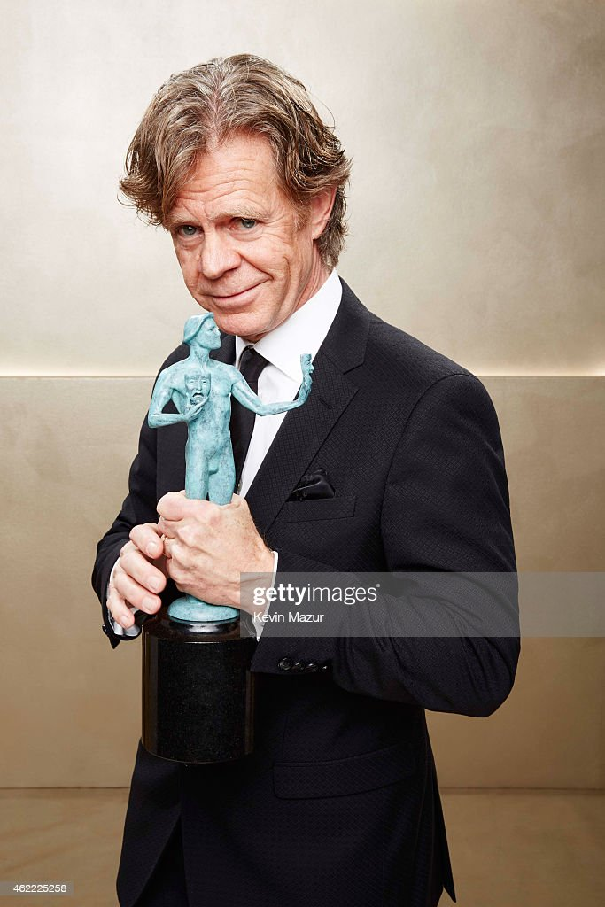 William H Macy poses during TNT's 21st Annual Screen Actors Guild Awards at The Shrine Auditorium on January 25 2015 in Los Angeles California...
