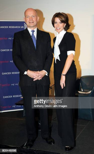 William Hague and Natasha Kaplinsky attend the Cancer Research UK tenth annual Turn the Tables event at BAFTA London