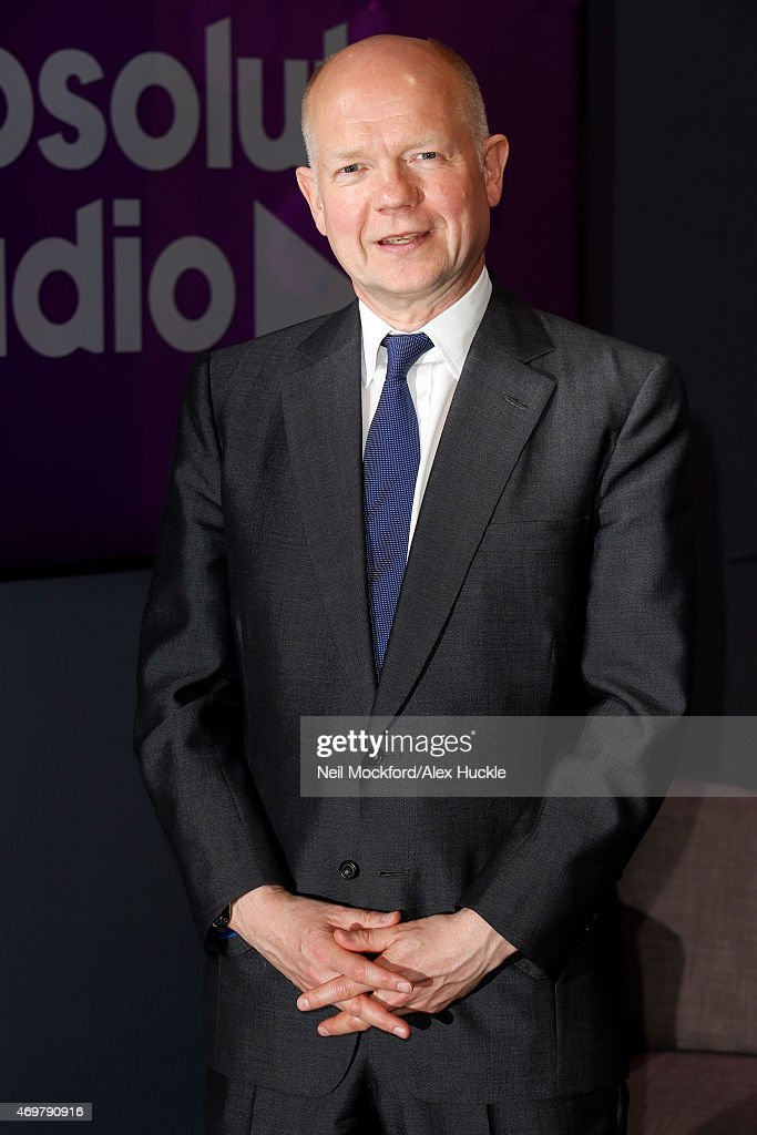 <a gi-track='captionPersonalityLinkClicked' href=/galleries/search?phrase=William+Hague&family=editorial&specificpeople=206295 ng-click='$event.stopPropagation()'>William Hague</a> pictured during a visit to Absolute Radio on April 15, 2015 in London, England.