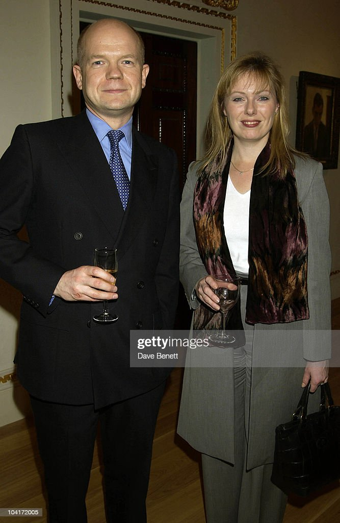 William Hague & Wife Ffion, Charity Auction For Signed Photos For Twin Towers Fund, At The Royal Academy Of Arts, Piccadilly, London
