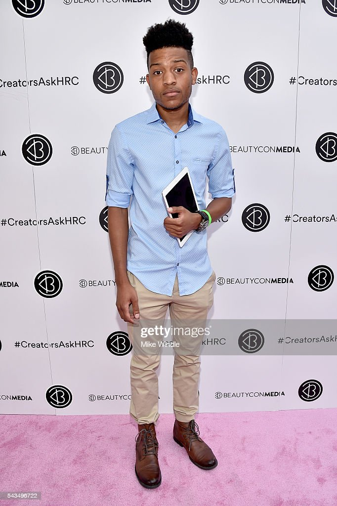 William Haynes attends as Beautycon Media curates the first digital content creator town hall with Hillary Clinton at NeueHouse Los Angeles on June 28, 2016 in Hollywood, California.