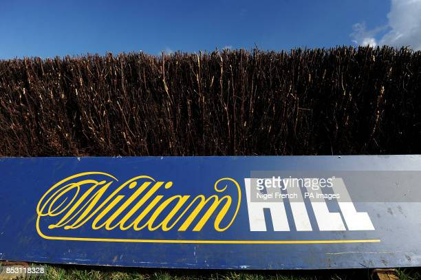 William Hill signage at the furlong to go fence