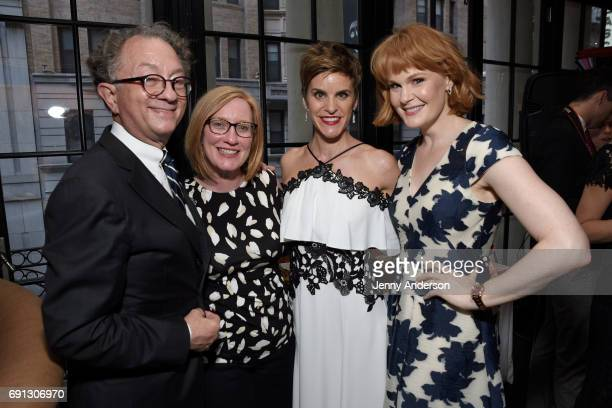 William Ivey Long Heather Hitchens Jenn Colella and Kate Baldwin attend Designed To Celebrate A Toast To The 2017 Tony Awards Creative Arts Nominees...