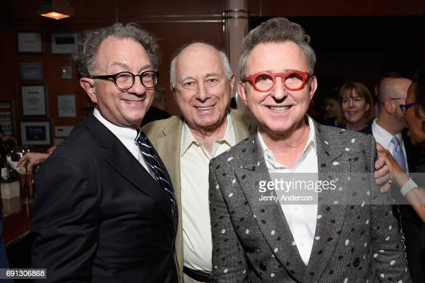 William Ivey Long Paul Lebin and Thomas Schumacher attend Designed To Celebrate A Toast To The 2017 Tony Awards Creative Arts Nominees at The Lamb's...