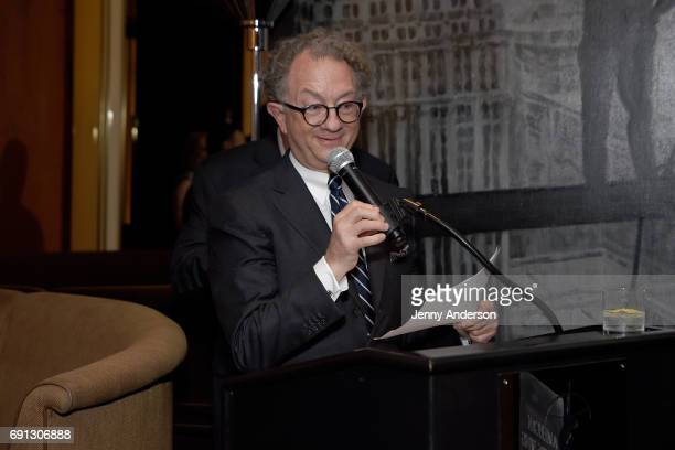 William Ivey Long speaks at Designed To Celebrate A Toast To The 2017 Tony Awards Creative Arts Nominees at The Lamb's Club at the Chatwal NY