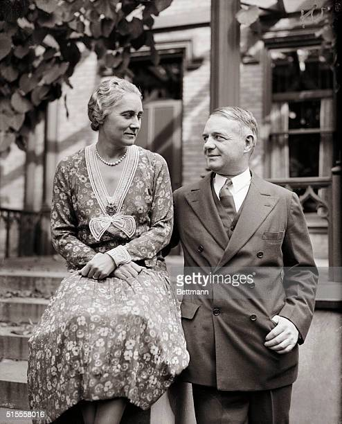 William J Donovan who is leading in the race for nomination as the Republican candidate for Governor of New York is shown with his wife Ruth at their...