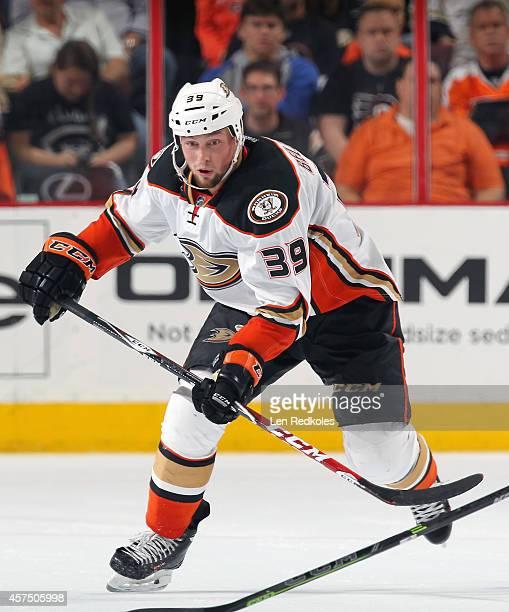 William Karlsson of the Anaheim Ducks skates against the Philadelphia Flyers on October 14 2014 at the Wells Fargo Center in Philadelphia Pennsylvania