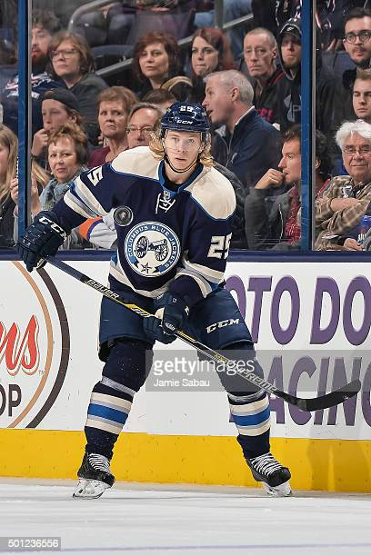 William Karlsson of the Columbus Blue Jackets skates against the New York Islanders on December 12 2015 at Nationwide Arena in Columbus Ohio