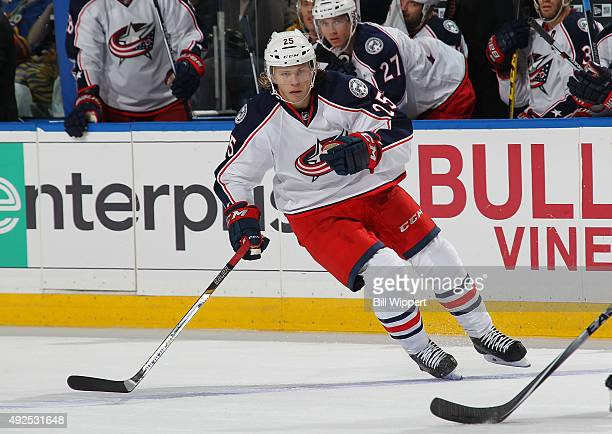 William Karlsson of the Columbus Blue Jackets skates against the Buffalo Sabres on October 12 2015 at the First Niagara Center in Buffalo New York