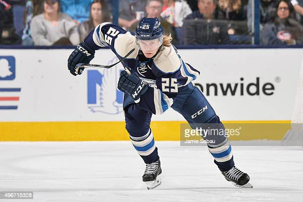 William Karlsson of the Columbus Blue Jackets skates against the Vancouver Canucks on November 10 2015 at Nationwide Arena in Columbus Ohio