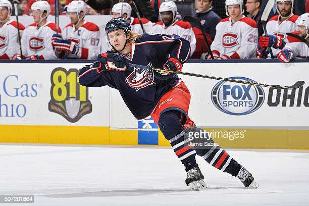 William Karlsson of the Columbus Blue Jackets skates against the Montreal Canadiens on January 25 2016 at Nationwide Arena in Columbus Ohio