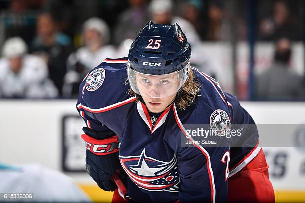 William Karlsson of the Columbus Blue Jackets skates against the San Jose Sharks on October 15 2016 at Nationwide Arena in Columbus Ohio