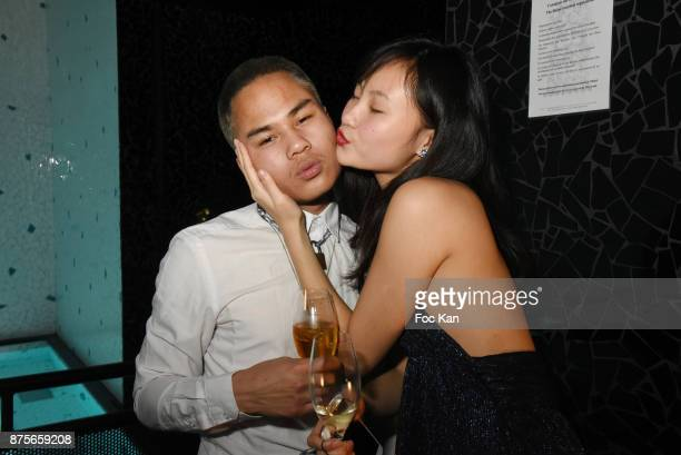 William Kerney and Ludan Zhang attend 'Le Temps Retrouve' Party at Les Bains on November 17 2017 in Paris France