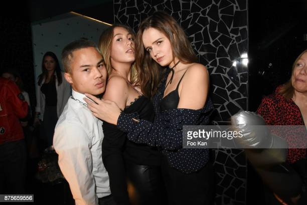 William Kerney Andrea Ricciutelli and Elisabeth Oros attend 'Le Temps Retrouve' Party at Les Bains on November 17 2017 in Paris France