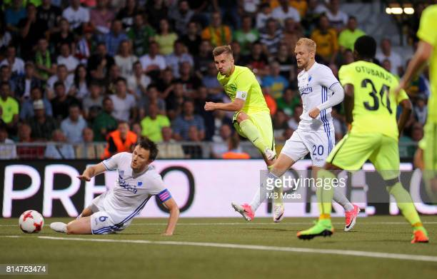 William Kvist Nicolai Boilesen Nikolas Spalek during the UEFA European Champions League Second qualifying round Match 1 match between MSK Zilina FC...