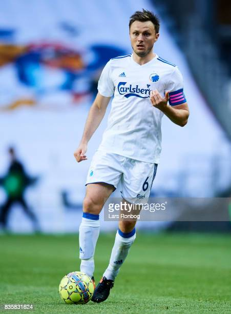 William Kvist of FC Copenhagen controls the ball during the Danish Alka Superliga match between FC Copenhagen and Sonderjyske at Telia Parken Stadium...