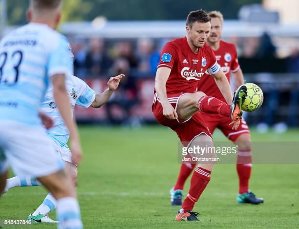 William Kvist of FC Copenhagen in action during the Danish Alka Superliga match between FC Helsingor and FC Copenhagen at Helsingor Stadion on...
