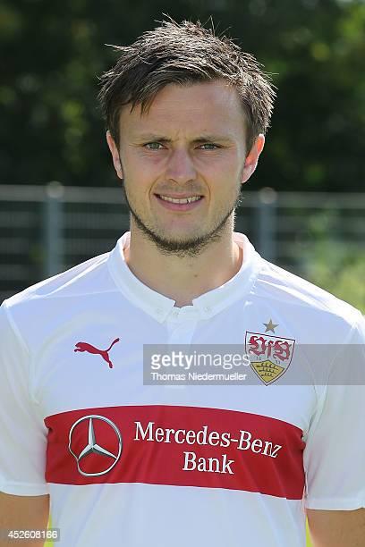 William Kvist poses during the team presentation of Stuttgart at VfB Stuttgart Training Ground on July 24 2014 in Stuttgart Germany