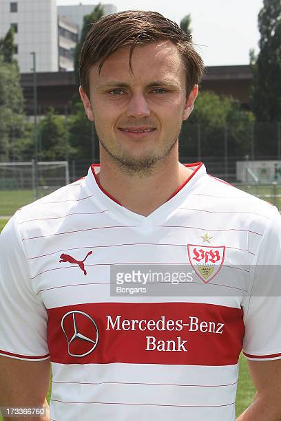 William Kvist poses during the VfB Stuttgart team presentation on July 10 2013 in Stuttgart Germany