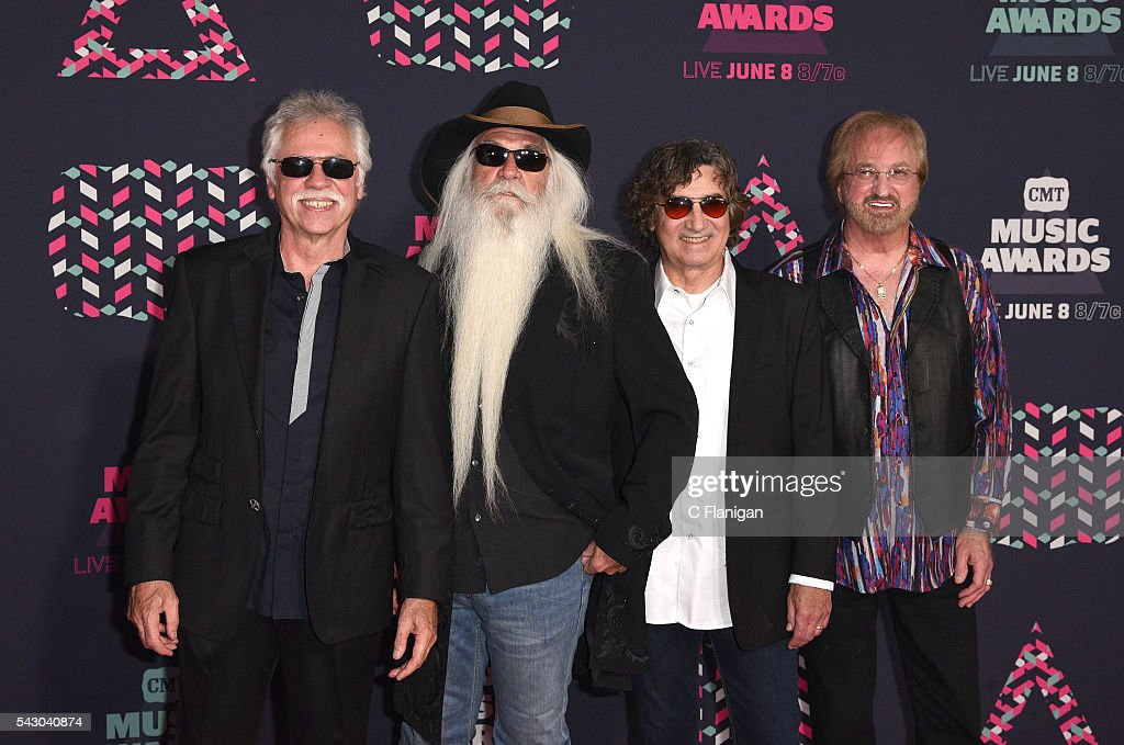 William Lee Golden Richard Sterban Joe Bonsall and Duane Allen of the Oak Ridge Boys attend the 2016 CMT Music awards at the Bridgestone Arena on...