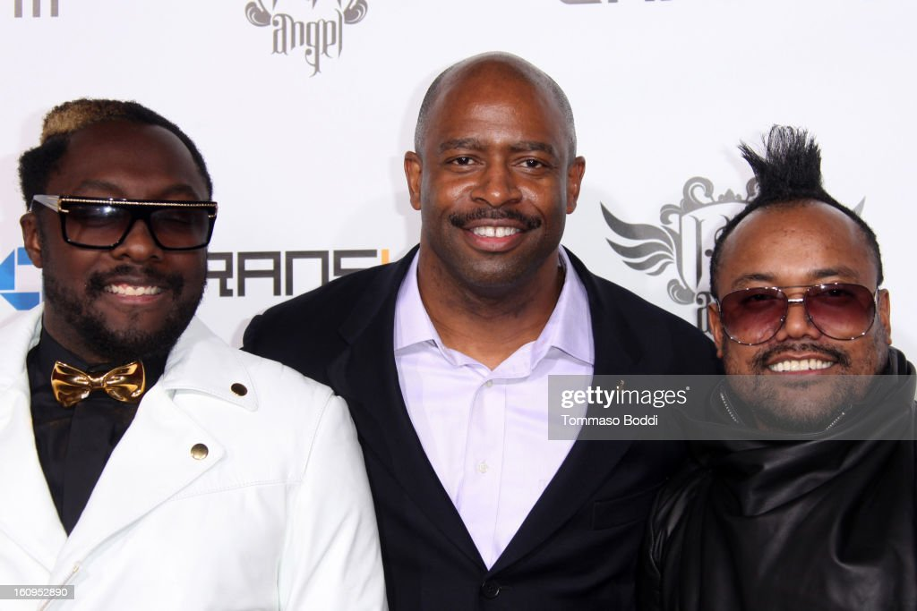 Will.i.am, Leland Melvin and Apl.de.ap attend the 2nd Annual Will.i.am TRANS4M Boyle Heights benefit concert held at Avalon on February 7, 2013 in Hollywood, California.