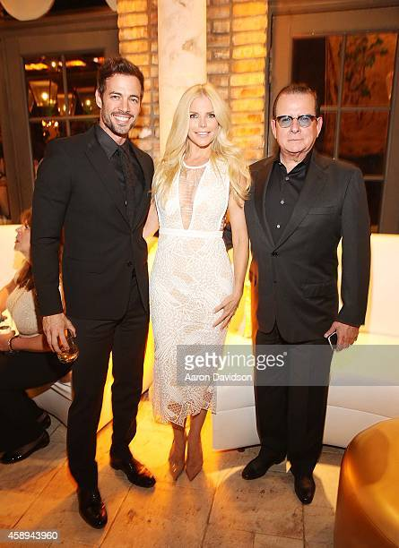 William Levy Alexia Echevarria and Herman Echevarria attends the New Gold Standard of Celebration hosted by Johnnie Walker at The Cruz Building on...