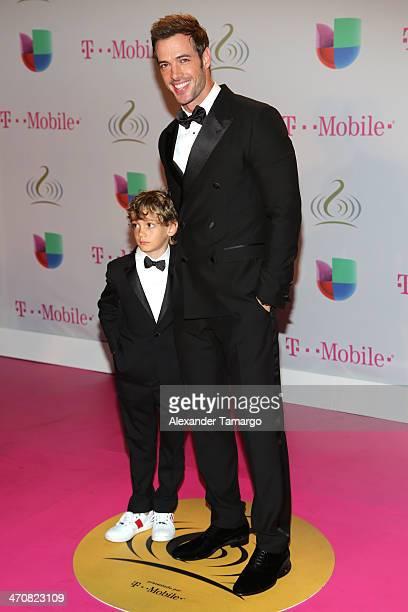 William Levy and son attend Premio Lo Nuestro a la Musica Latina 2014 at American Airlines Arena on February 20 2014 in Miami Florida