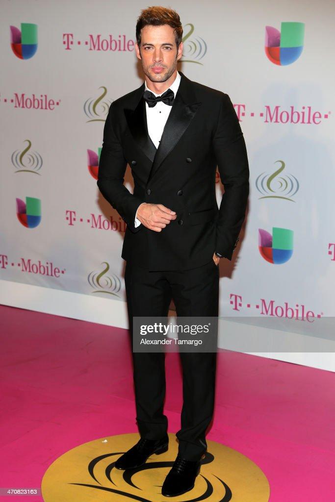 William Levy attends Premio Lo Nuestro a la Musica Latina 2014 at American Airlines Arena on February 20, 2014 in Miami, Florida.