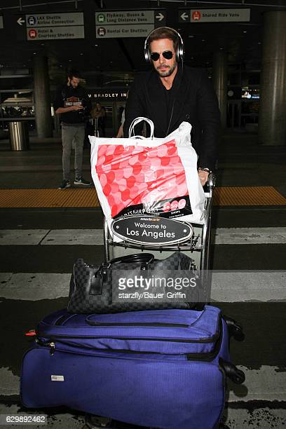 William Levy is seen at LAX on December 14 2016 in Los Angeles California
