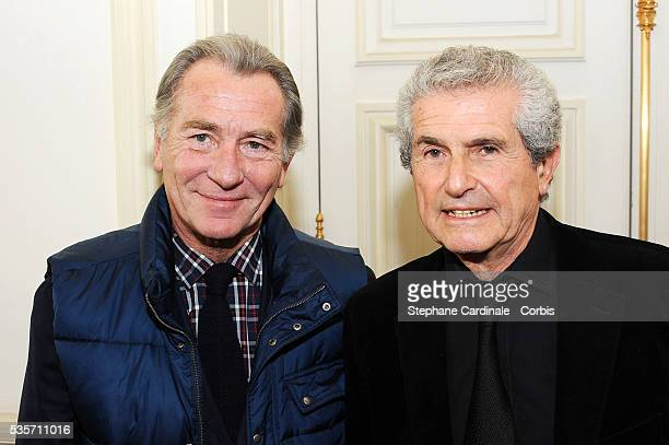 William Leymergie and Claude Lelouch attend the Award Ceremony for the Vermail Medal to Claude Lelouch at Paris City Hall