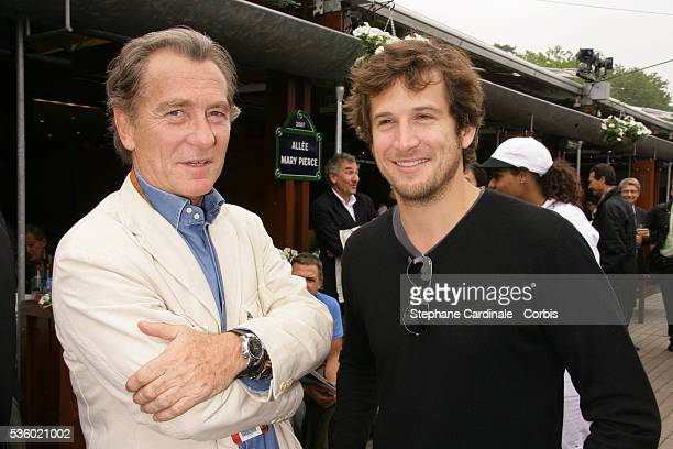 William Leymergie and Guillaume Canet at Roland Garros Village