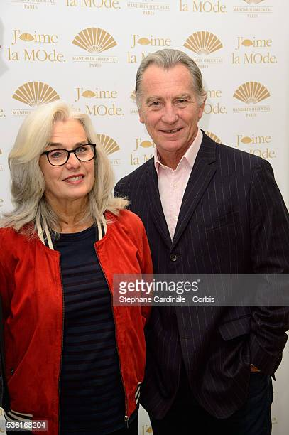 William Leymergie and his Wife attend the 'J'aime La Mode' Party at Mandarin Oriental on September 28 2015 in Paris France