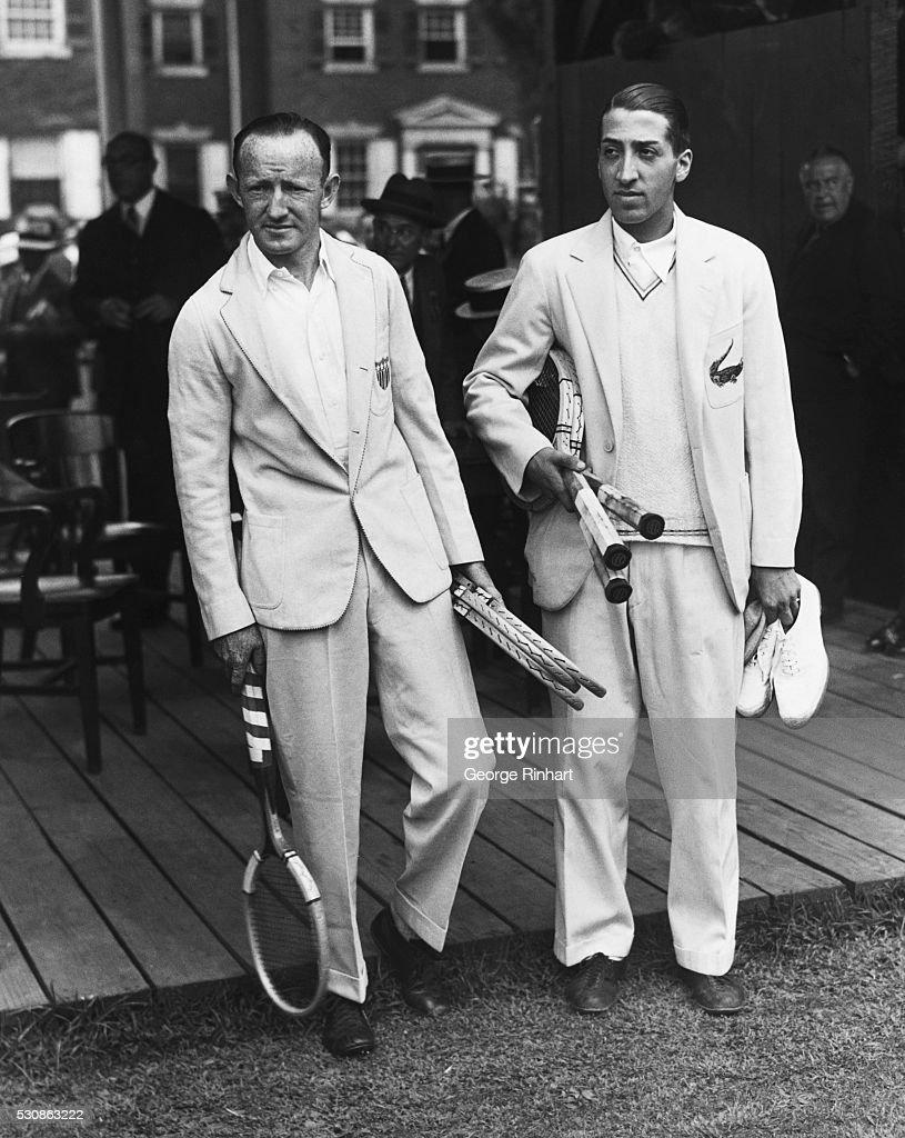 Portrait of Rene Lacoste and William Johnston
