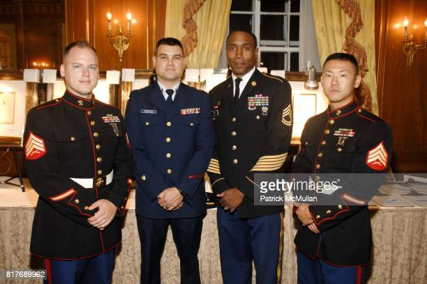 William Maley Danny Underwood Charles Gray and Scott Bae attend Soldiers' Sailors' Marines' Coast Guard and Airmen's Club 14th Annual Military Ball...