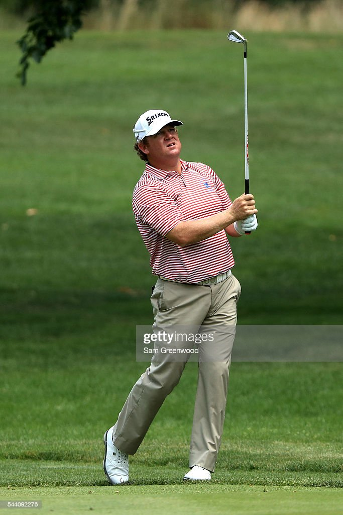 <a gi-track='captionPersonalityLinkClicked' href=/galleries/search?phrase=William+McGirt&family=editorial&specificpeople=6660773 ng-click='$event.stopPropagation()'>William McGirt</a> plays a shot on the sixth fairway during the second round of the World Golf Championships - Bridgestone Invitational at Firestone Country Club South Course on July 1, 2016 in Akron, Ohio.