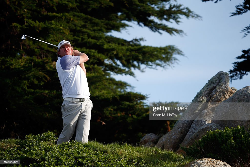 <a gi-track='captionPersonalityLinkClicked' href=/galleries/search?phrase=William+McGirt&family=editorial&specificpeople=6660773 ng-click='$event.stopPropagation()'>William McGirt</a> plays his tee shot on the 11th hole during the second round of the AT&T Pebble Beach National Pro-Am at the Monterey Peninsula Country Club (Shore Course) on February 12, 2016 in Pebble Beach, California.