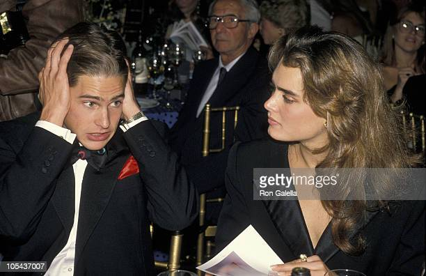 William McNamara and Brooke Shields during The Design Industries Foundation AIDS Benefit October 5 1988 at Metropolitan Home Showhouse/New York City...