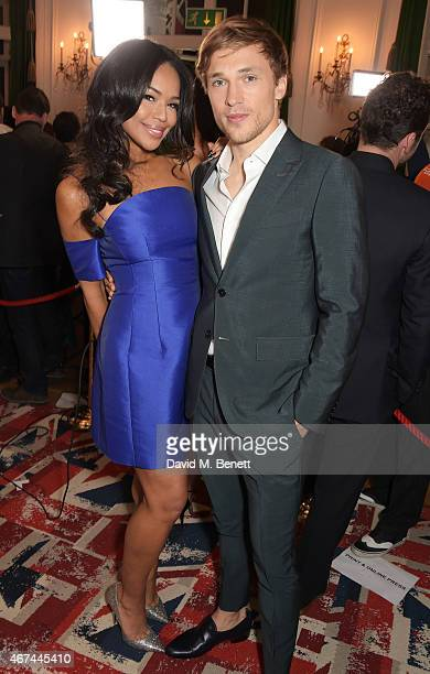 William Moseley and SarahJane Crawford attend the 'The Royals' UK premiere party at the Mandarin Oriental Hyde Park on March 24 2015 in London...